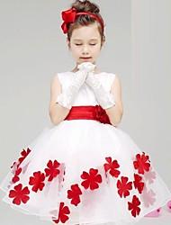 economico -Vestito Girl Fantasia floreale Cotone Estate / Primavera / Autunno Blu / Rosa / Viola / Rosso
