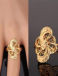 cheap -Women's Hollow Out Band Ring - Gold Plated, Alloy Fashion Golden For Wedding / Party / Daily