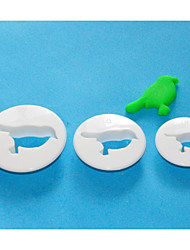 cheap -FOUR-C Plastic Round Fondant Cutter, Cake Decorating Tools, Cake Cutter Mould Set of 3