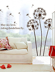 economico -wall stickers da parete in stile decalcomanie tarassaco marrone adesivi murali in pvc
