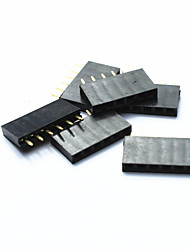 preiswerte -jtron 2,54 mm einreihige Stiftleiste 40-Pin - schwarz (6pcs)