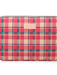 cheap -LISEN 10'' 11'' 12'' Red Plaid Pattern Protective Sleeve Laptop Computer Bag