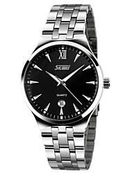cheap -SKMEI Men's Quartz Dress Watch Fashion Watch Calendar / date / day Water Resistant / Water Proof Casual Watch Noctilucent Stainless Steel