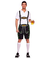 cheap -Maid Costume Oktoberfest Bavarian Cosplay Costume Party Costume Male Halloween Oktoberfest Festival / Holiday Halloween Costumes Black