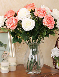 cheap -Set of 2 Natural Style Roses Simulation