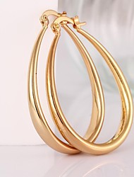 cheap -Women's Hoop Earrings Costume Jewelry Brass Jewelry For