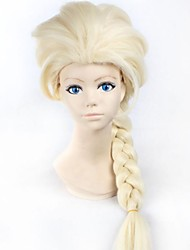 cheap -New Cartoon  Wig Queen Wig Long Blonde Braid Cosplay  Anime Wig ponytail Classic Halloween Hair Synthetic Wigs