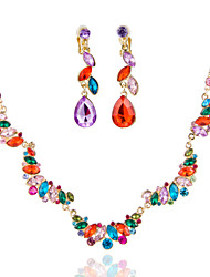 cheap -Women's Multi-stone Wedding Special Occasion Anniversary Birthday Engagement Gift Alloy Earrings Necklaces