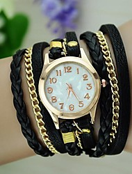 cheap -Women's Vintage Braided Rope Wrap Bracelet Watch Strap Watch Cool Watches Unique Watches Fashion Watch