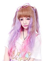 Lolita perika Punk Lolita Prijelaz boje Lolita Perika 50 CM Cosplay Wigs Kolaž Wig Za