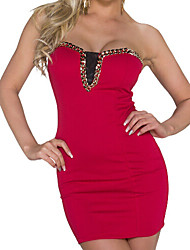 Women's  Offer Shoulder Chain Mini Dress
