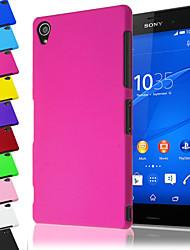 Недорогие -Для Кейс для Sony / Xperia Z3 Матовое Кейс для Задняя крышка Кейс для Один цвет Твердый PC для Sony Sony Xperia Z3
