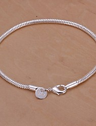 cheap -Women's Silver Plated Charm Bracelet - Unique Design Fashion Others Snake Silver Bracelet For Wedding Party Daily Casual