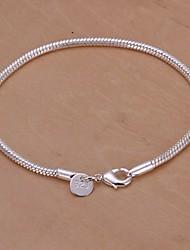 abordables -Femme Charmes pour Bracelets Plaqué argent Original Mode Serpent Bijoux Argent Bijoux 1pc