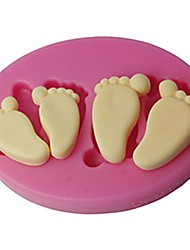 cheap -FOUR-C Silicone Embossing Mold Baby Feet Fondant And Gum Paste Mould Color Pink SM-419