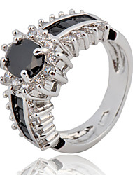 cheap -Size 6/7/8/9/10 High Quality men Black Sapphire Rings 10KT White Gold Filled Ring