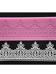 quatre c pad gâteau tapis de dentelle de silicone de gâteau décoration texturé couleur rose moule
