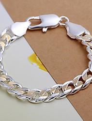 Муж. Браслеты-цепочки и звенья бижутерия Серебрянное покрытие Бижутерия Назначение Свадьба Для вечеринок Повседневные Новогодние подарки