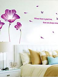 Недорогие -экологические съемные фиолетовый лилии теги пвх&наклейка