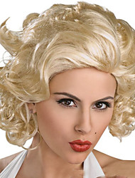 cheap -European And American Fashion New Beige Short Curly Wig