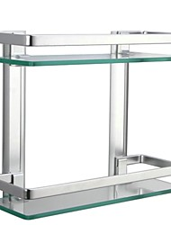 cheap -Bathroom Shelf Contemporary Aluminum / Tempered Glass 1 pc - Hotel bath