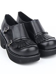 Lolita Shoes Punk Lolita Black Lolita Accessories For PU Leather/Polyurethane Leather