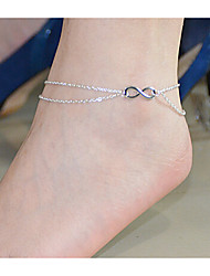 cheap -Anklet Body Chain - Women's Double-layer Bowknot Alloy Anklet For Party Daily Casual