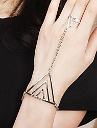 Paracord Bracelet Punk Alloy Geometric Triangle Shape Jewelry For Wedding Party Daily Casual