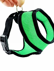 cheap Toys & Hobbies-Dog Harness Adjustable / Retractable Nylon Mesh Black Red Green Blue Pink