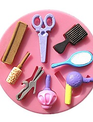 Недорогие -гребень зеркало вентилятор макияж инструменты помадной формы торта формы шоколада