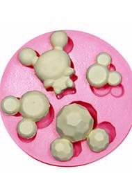 Moule en silicone gâteau décoration moule en silicone pour fondant bonbons artisanat bijoux pmc résine argile