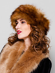 cheap -Women's Faux Fur Vintage Party Casual Hats Winter Gray Camel