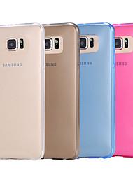 abordables -Funda Para Samsung Galaxy Funda Samsung Galaxy Transparente Funda Trasera Un Color TPU para S6