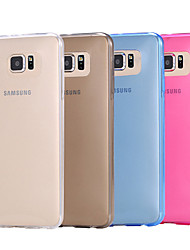tanie -Kılıf Na Samsung Galaxy Samsung Galaxy Etui Transparentny Osłona tylna Solidne kolory TPU na S6