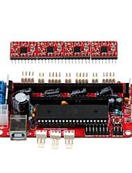 geeetech 3D tiskárna RepRap sestaven sanguinololu deska + 4 x a4988 řidiči krokové