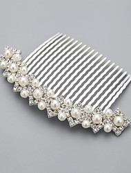 Women's Flower Girl's Rhinestone Alloy Imitation Pearl Headpiece-Wedding Special Occasion Casual Hair Combs