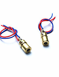 cheap -10050109W 5V Red Laser Diodes for Toys / Instruments - Golden + Red + Blue (2 PCS)
