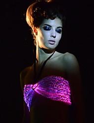 fibra óptica sexy multicolors de controle remoto das mulheres levou partido / boate bra