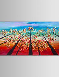 iarts pittura a olio moderne paesaggio alberi di telecamera a mano tela con cornice allungata dipinto