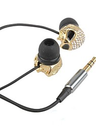 Skull with rhinestone design Style In-Ear Earphone  (3.5mm Plug / 120cm-Cable)