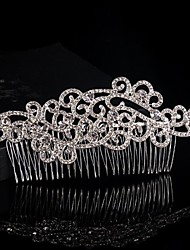 Floral Design Wedding Bride Crystal Combs Headpiece