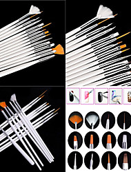 cheap -15PCS White Nail Art Design Painting Drawing Pen Brush Set Wood Handle Acrylic Brush