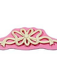 3d cvijet vinove glazura od šećera Fondant plijesni svadbena torta modeliranje uređenje plijesni silikon torta granični plijesni