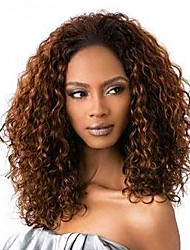 16inch Short Curly Brazilian Hair Lace Front Wig for Women