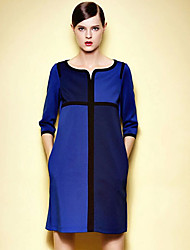 cheap -Women's Classic & Timeless Loose Dress - Solid Color, Classic Style