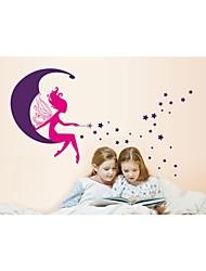 murali Stickers adesivi murali, stile La ragazza sulla adesivi murali luna pvc