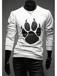economico -MEN - T-shirt - Informale Rotondo - Maniche lunghe Misto cotone