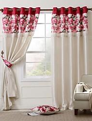 due pannelli paese floreale tenda foderata + 1 + 2 cuscino fermatende set