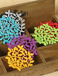 Carving carved felt Coasters Set of 6 (Mixed Colors) Wedding Favors
