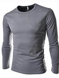 taizi muške mode modni sportske ličnosti okrugli ovratnik cvjetni print dugi rukav T-shirt